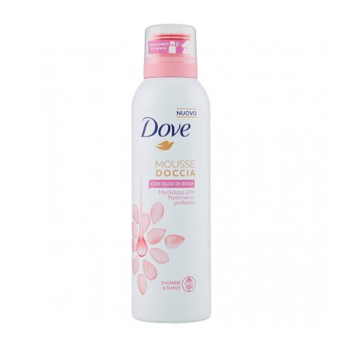 Dove Sprchová pěna s růžovým olejem 200 ml