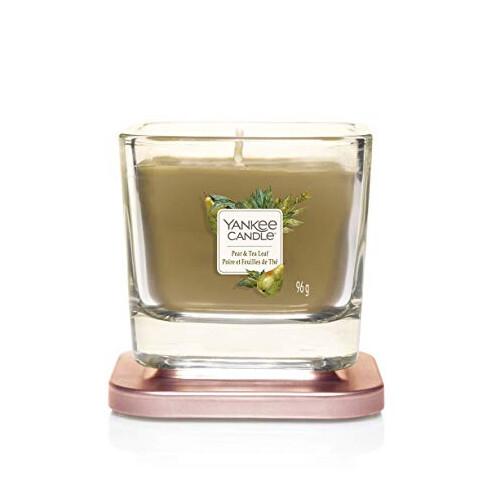 Yankee Candle Aromatická svíčka malá hranatá Pear & Tea Leaf 96 g