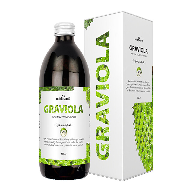 Graviola - 100% pasterované pyré z plodů gravioly 500 ml