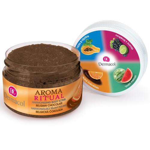 Dermacol Harmonizující tělový peeling Aroma Ritual Belgická čokoláda 200 g
