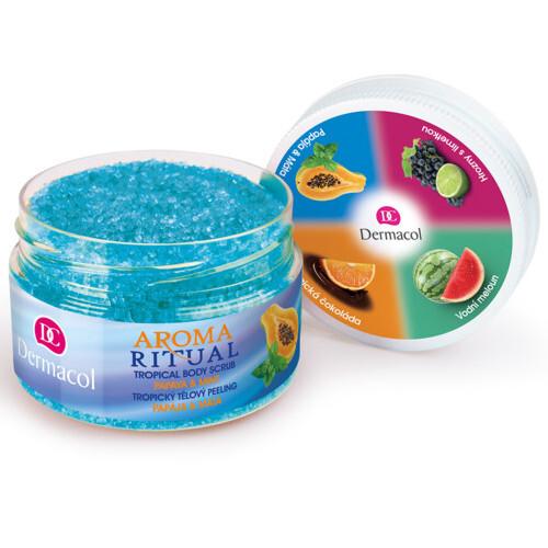 Dermacol Tropický tělový peeling Aroma Ritual Papája a máta 200 g