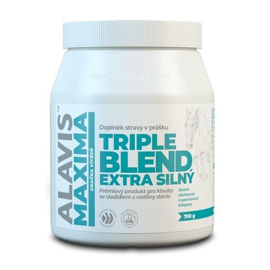 ALAVIS MAXIMA Triple Blend Extra Silný 700 g se sladidlem z rostliny stévie