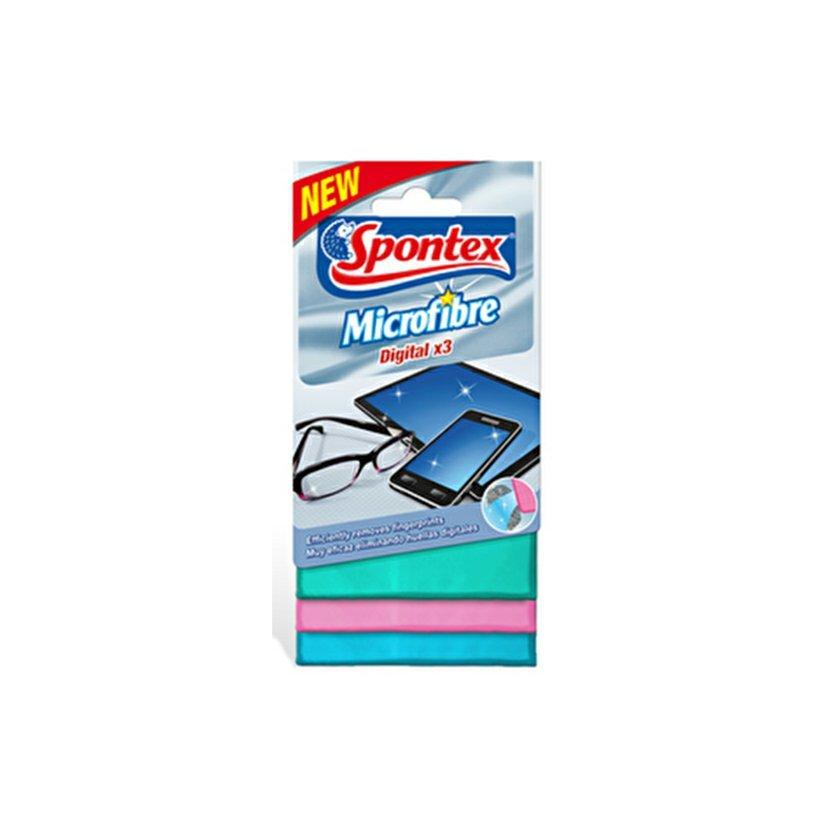 Spontex Digital utěrka z mikrovlákna 3 ks/bal.