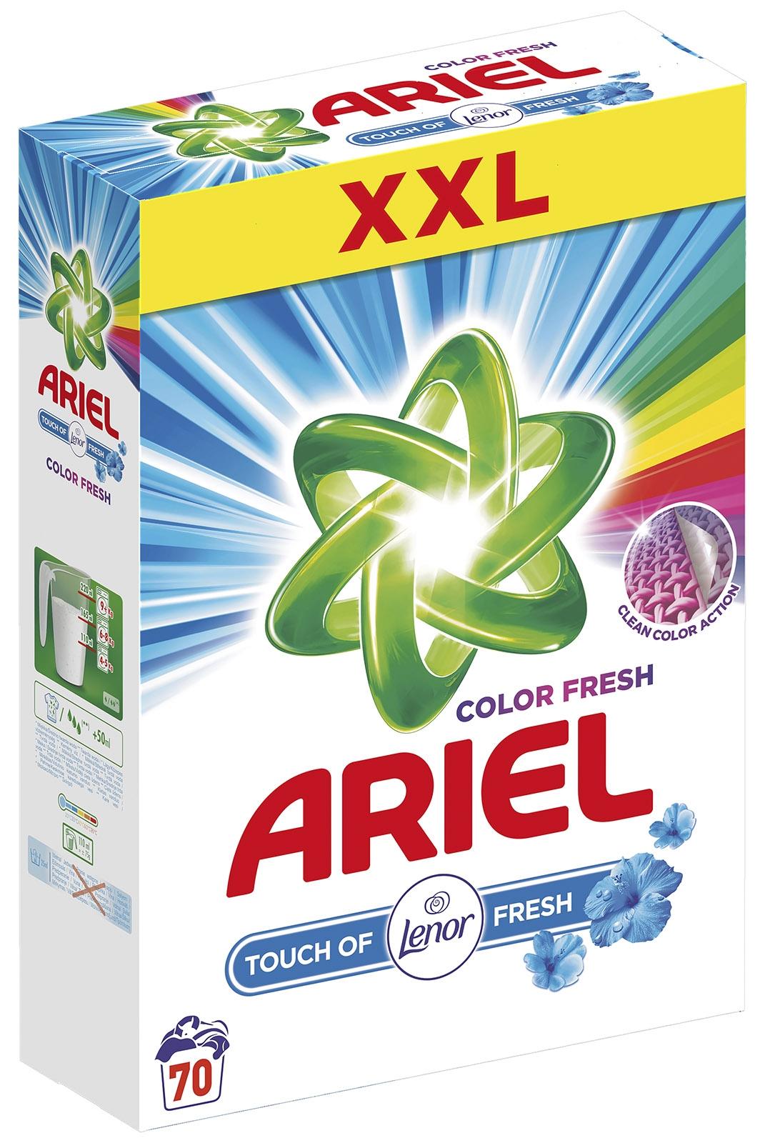 Ariel Touch of Lenor Color Fresh prací prášek, 70 praní 5,25 kg