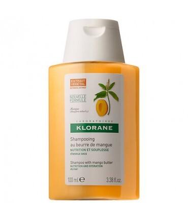 Fotografie Klorane Vyživující šampon pro suché vlasy Mango 25 ml