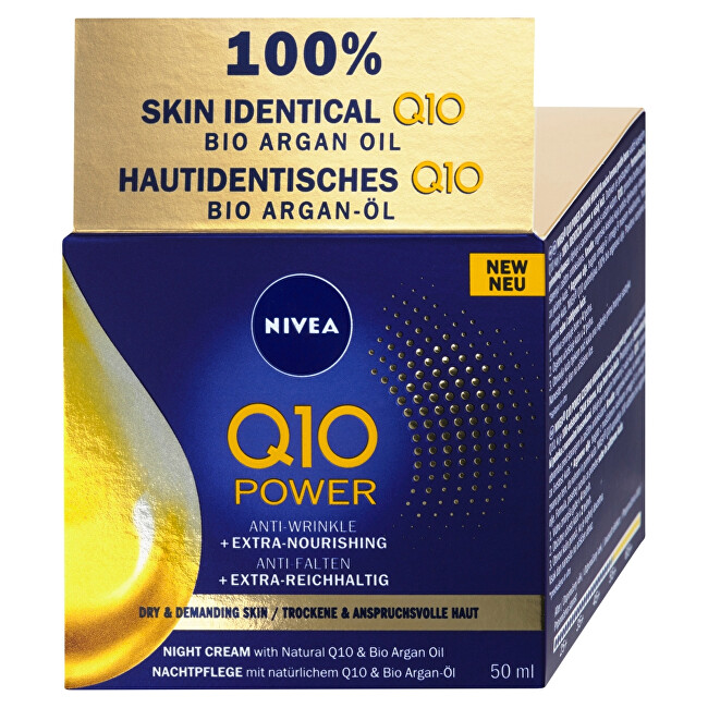 Nivea výživný noční krém proti vráskám Q10 Power 50 ml