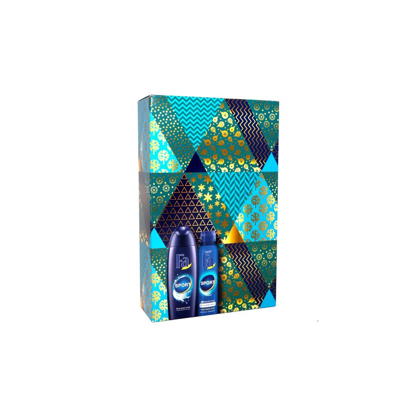 Fa Men Sport dárková sada sprchový gel + deodorant 250 ml + 150 ml