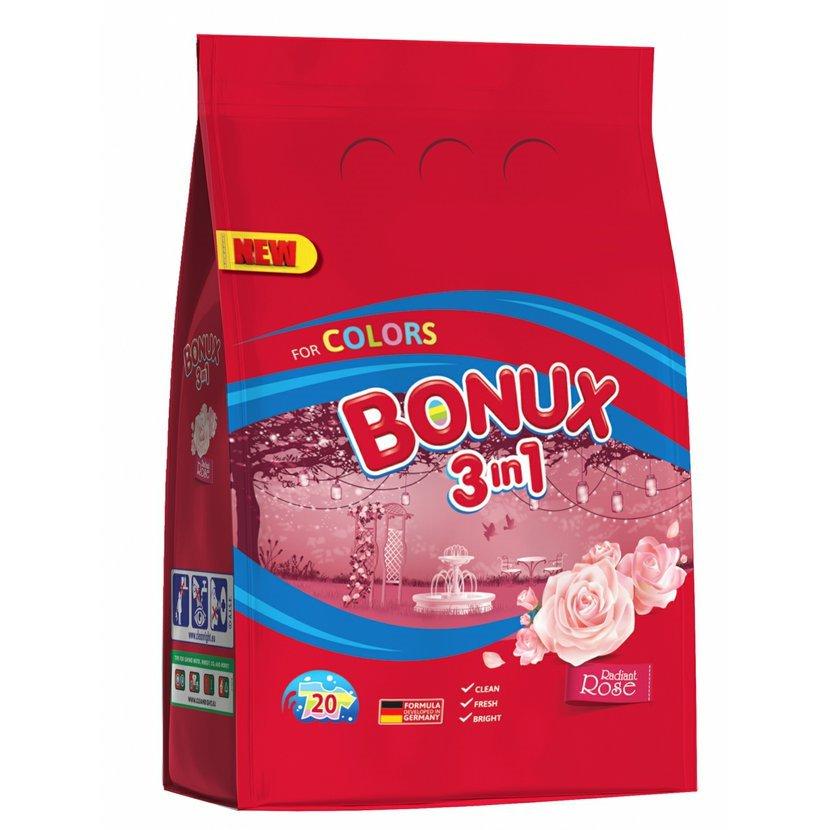 Bonux Color Radiant Rose prací prášek, 20 praní 1,5 kg