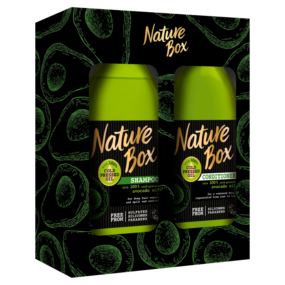 Nature Box Avocado Oil dárková sada 385 ml + 385 ml
