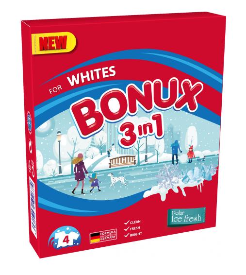 Bonux White Polar Ice Fresh prací prášek, 4 praní 300 g