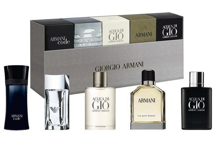 Armani Kolekce miniatur - EDT 7 ml + EDP 5 ml + EDT 5 ml + EDT 2 x 4 ml