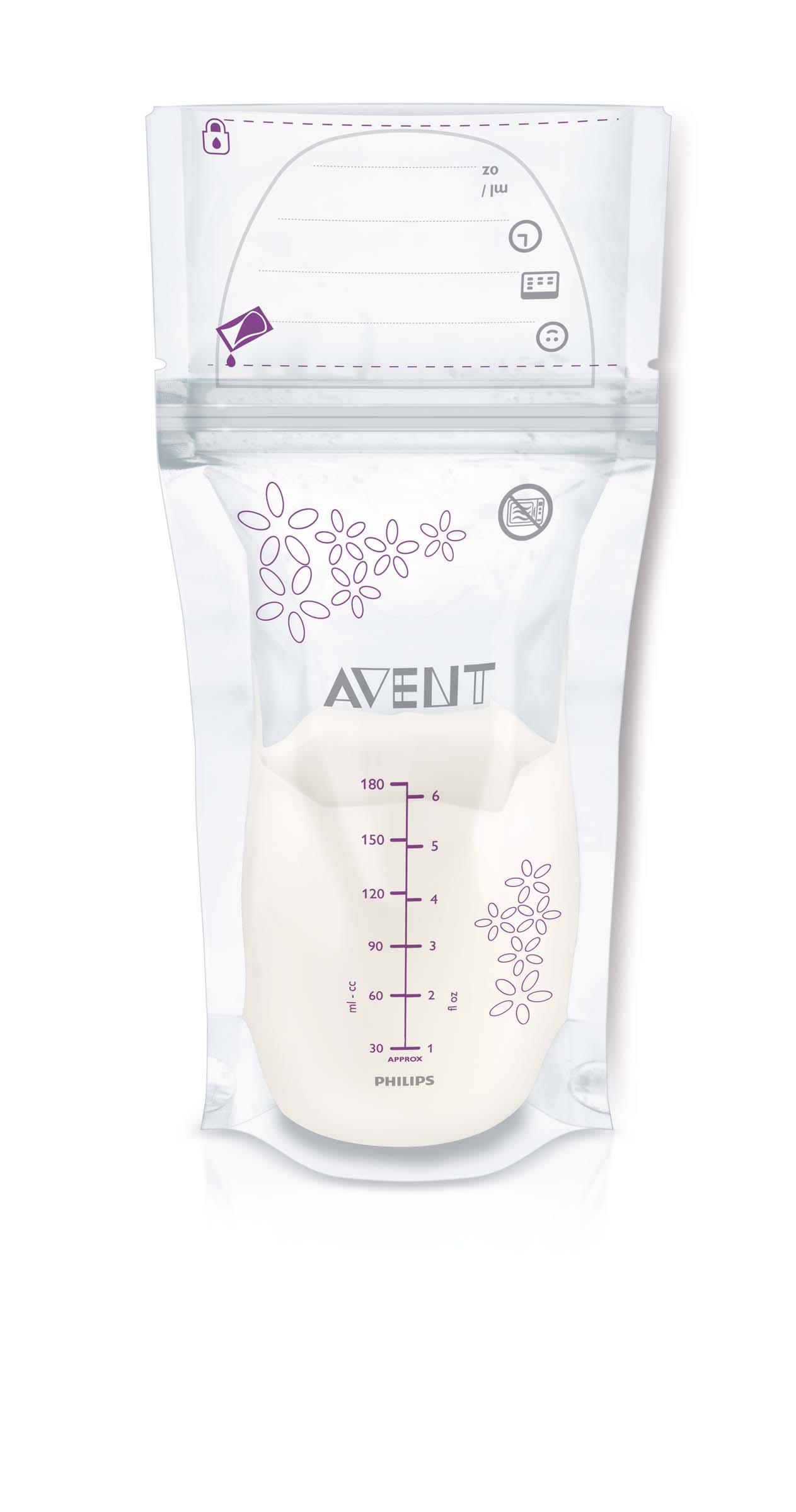 PHILIPS AVENT Sáčky na mateřské mléko 180 ml/25 ks