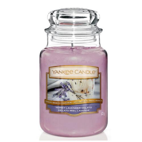 Yankee Candle Aromatická svíčka velká Levandulová zmrzlina s medem 623 g