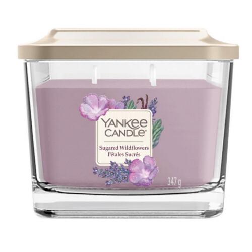 Yankee Candle svíčka střední hranatá Sugared Wildflowers 347 g