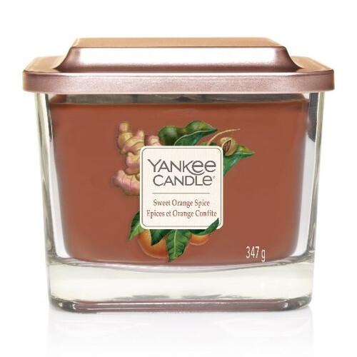 Yankee Candle Aromatická svíčka střední hranatá Sweet Orange Spice 347 g