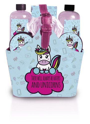 Lady Cotton Sada kosmetiky do koupele There Will Always be Haters and Unicorns v kabelce
