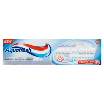 Aquafresh All in One Protection Whitening zubní pasta s fluoridem 75 ml