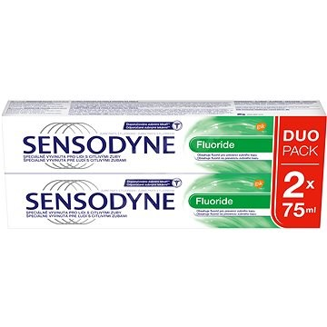 SENSODYNE Fluoride zubní pasta s fluoridem 2x 75 ml