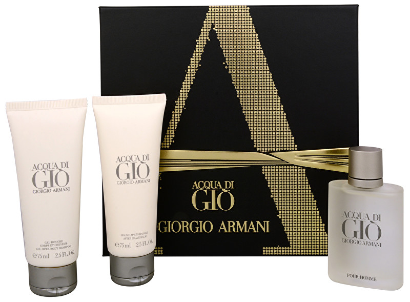 Armani Acqua Di Gio Pour Homme - EDT 50 ml + sprchový gel 75 ml + balzám po holení 75 ml