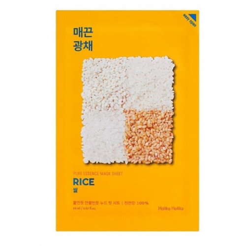 Holika Holika Plátýnková maska s rýží pro rozjasnění a vitalitu pleti Rice 20 ml