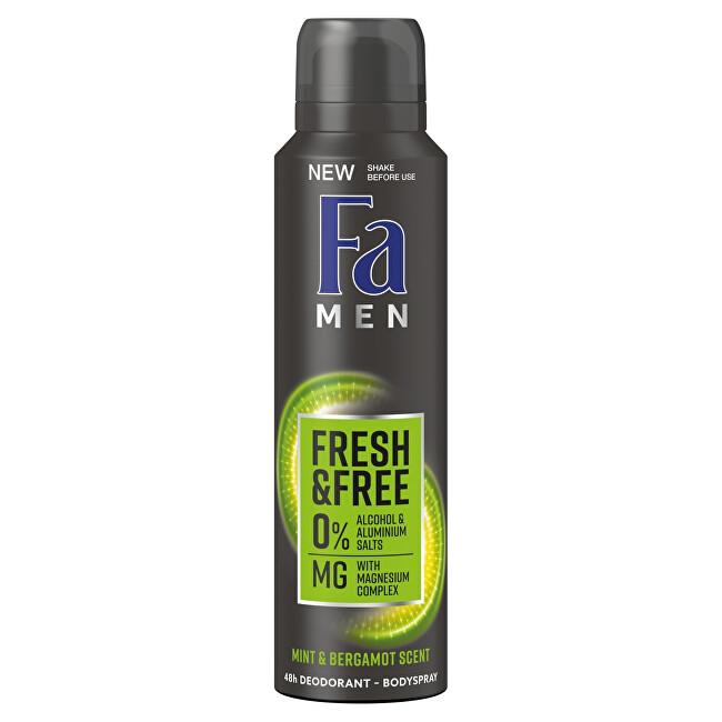 Fa Deodorant ve spreji Men Fresh & Free Mint & Bergamot 150 ml