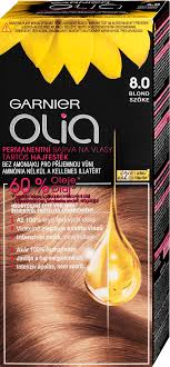 Garnier Permanentní olejová barva na vlasy bez amoniaku Olia 8.0 blond