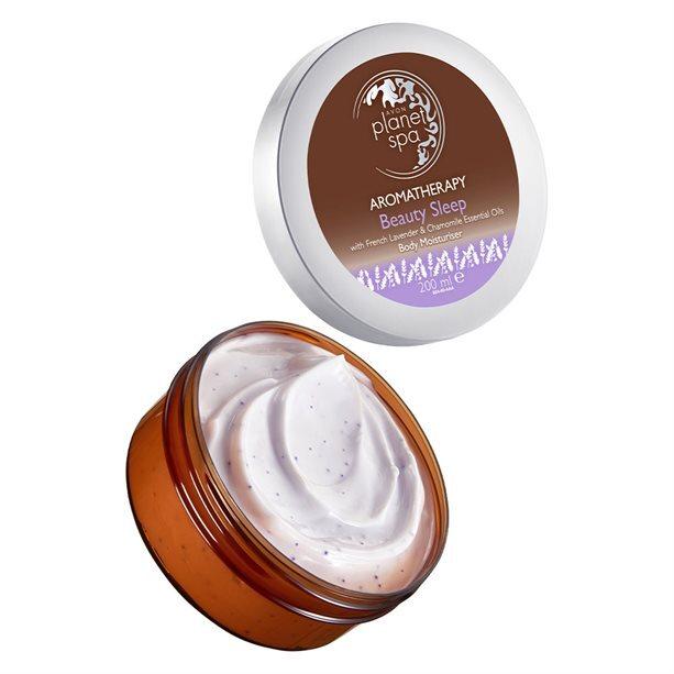 Avon Zklidňující tělový krém s levandulí a heřmánkem Planet Spa Aromatherapy 200 ml