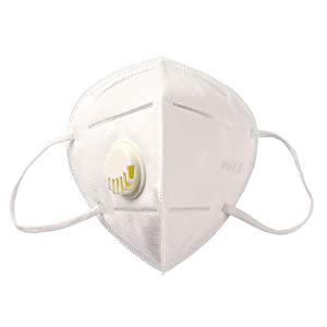 Respirátor KN95/FFP2, s výdechovým filtrem, Certifikát CE 1ks