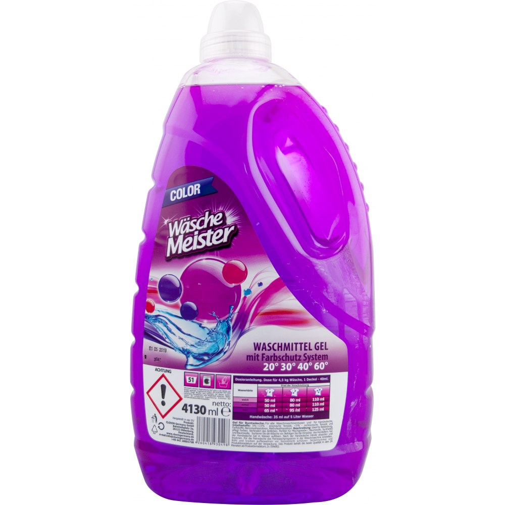 Wäsche Meister Color prací gel, 51 dávek 4130 ml