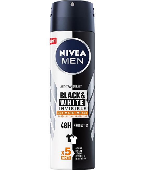 Nivea Antiperspirant ve spreji Men Invisible Black & White Ultimate Impact 150 ml