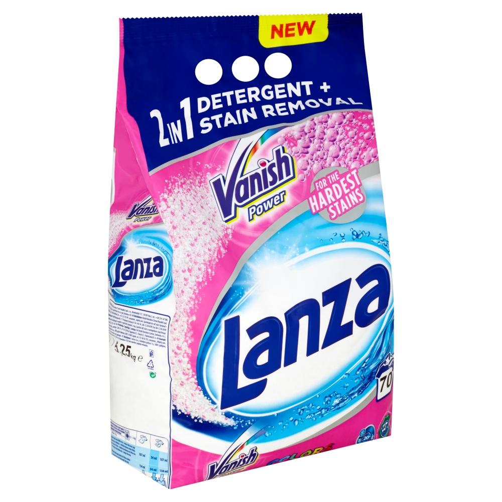 Lanza Vanish 2v1 Power prací prášek na barevné prádlo, 70 praní 5,25 kg