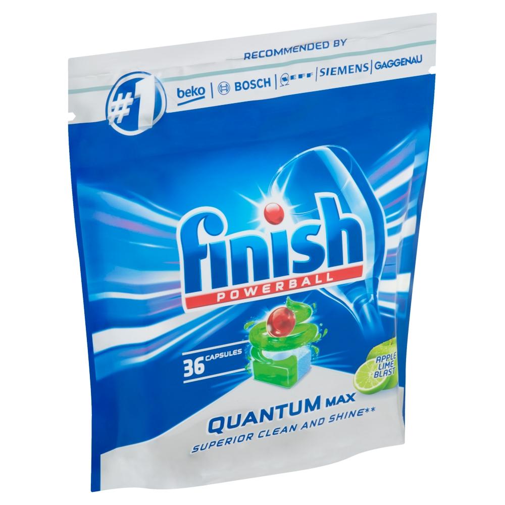 Finish Powerball Quantum Max tablety do myčky nádobí s vůní jablka a limety 36 ks