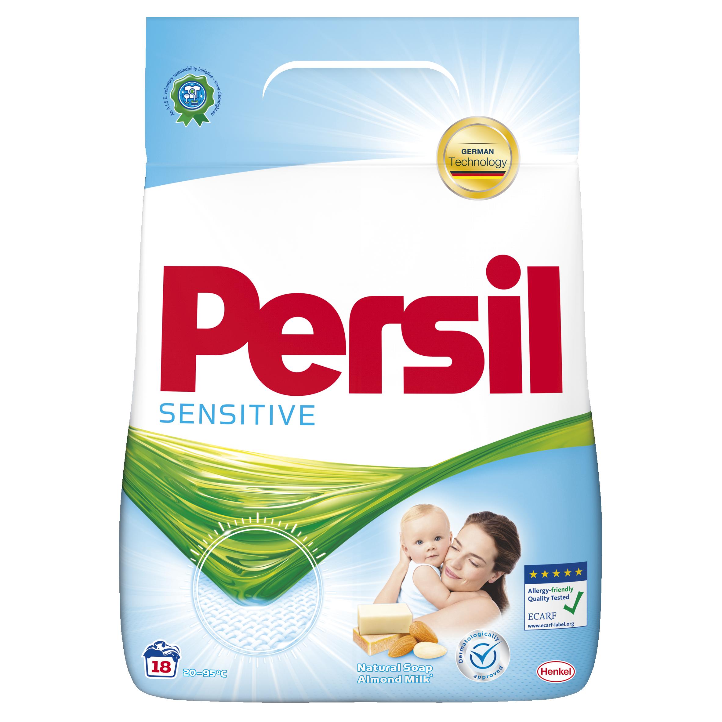 Persil Sensitive prací prášek, 18 praní 1,17 kg