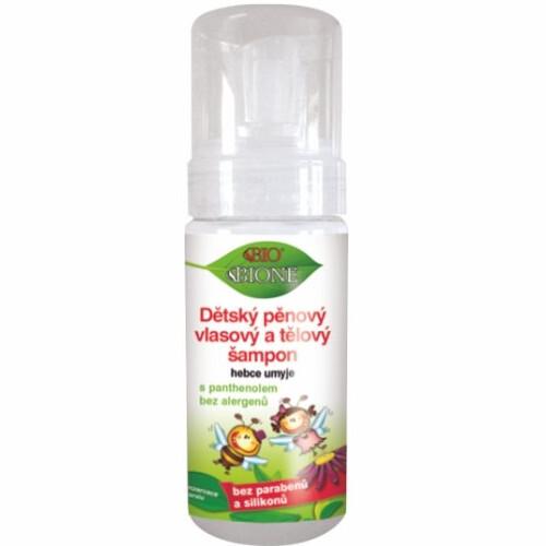 Bione Cosmetics Dětský pěnový vlasový a tělový šampon 150 ml