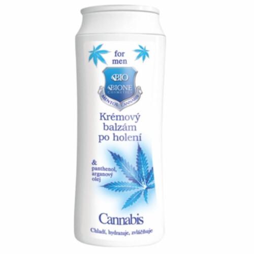 Bione Cosmetics Krémový balzám po holení pro muže Cannabis 200 ml