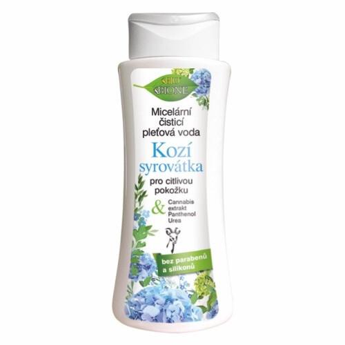 Bione Cosmetics Micelární čisticí pleťová voda Kozí Syrovátka pro citlivou pokožku 255 ml