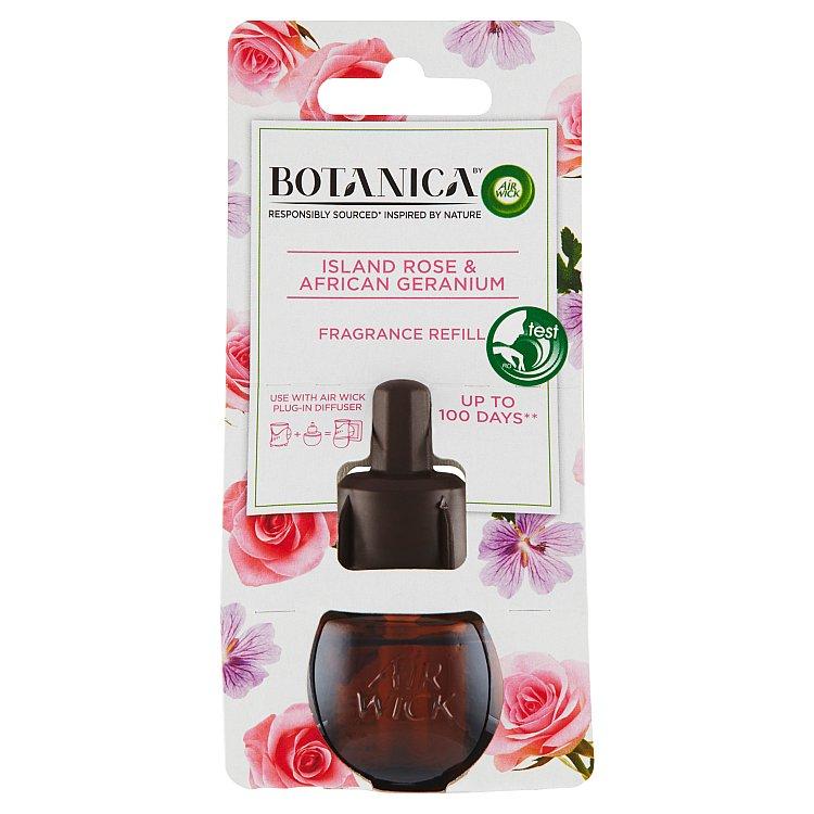 Botanica by Air Wick náplň do elektrického přístroje exotická růže a africká pelargónie 19 ml