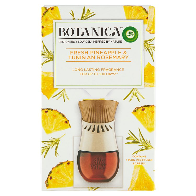 Botanica by Air Wick elektrický osvěžovač vzduchu svěží ananas a tuniský rozmarýn 1 ks + 19 ml