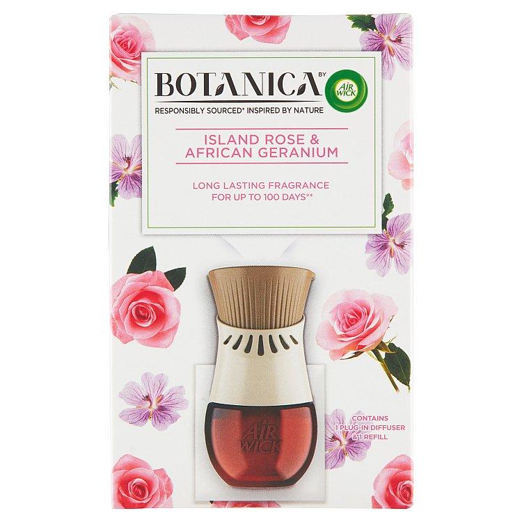Botanica by Air Wick elektrický osvěžovač vzduchu exotická růže a africká pelargónie 1 ks + 19 ml