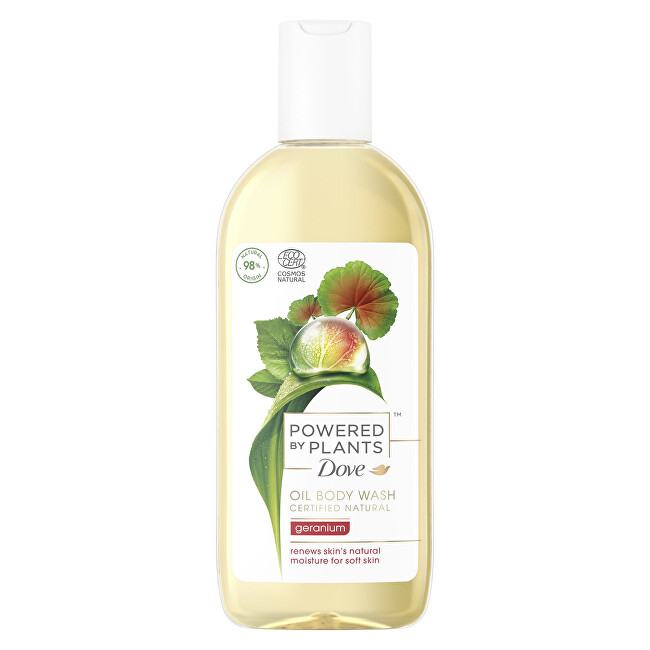 Dove Sprchový gel Pelargonie Powered by Plants Geranium (Oil Body Wash) 250 ml