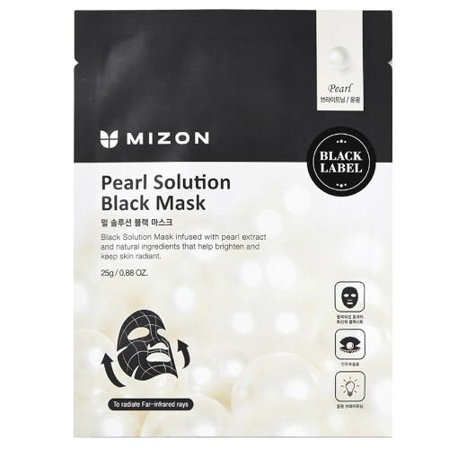 Mizon Rozjasňující maska s výtažky z perel (Pearl Solution Black Mask) 25 g