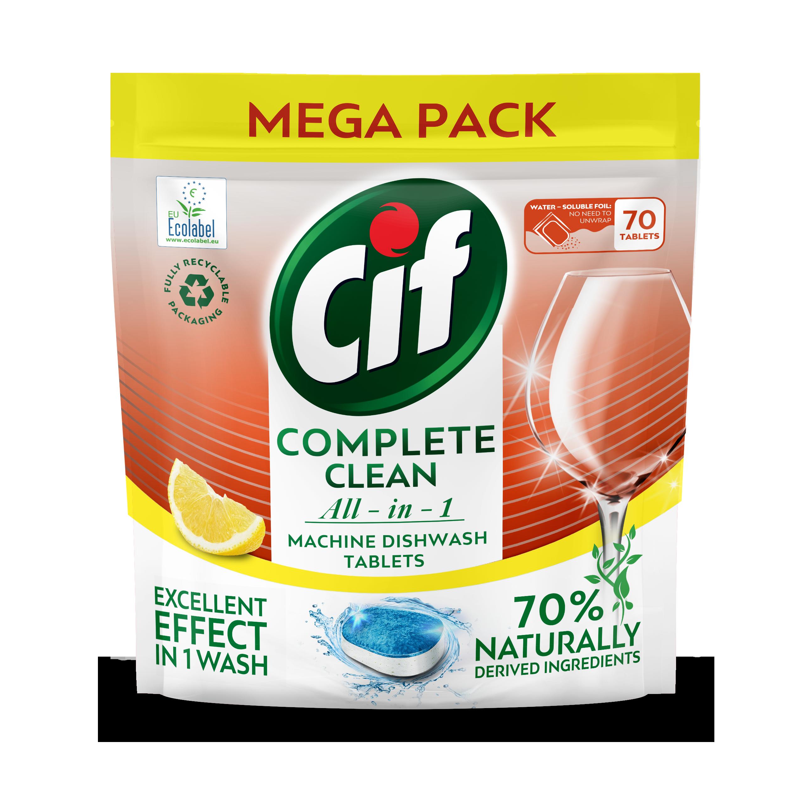 Cif tablety do myčky All-in-1 Citrus 70 ks/bal.
