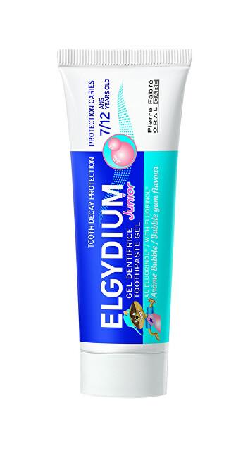ELGYDIUM Gelová zubní pasta s fluorinolem a příchutí žvýkačky pro děti 7-12 let Junior 50 ml