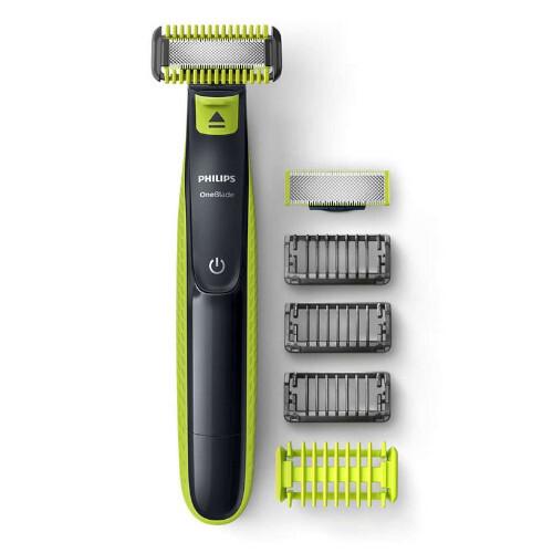 Philips holící strojek na tvář a tělo OneBlade + 3 hlavice