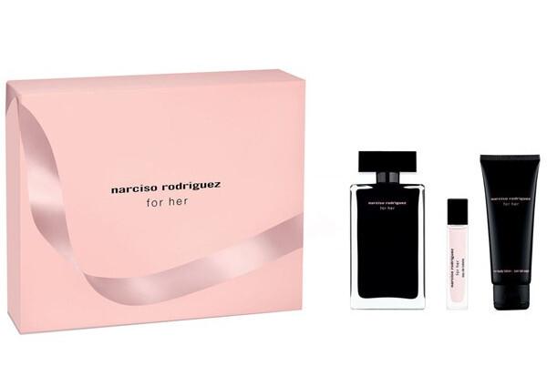 Narciso Rodriguez For Her - EDT 100 ml + tělové mléko 75 ml + EDT 10 ml