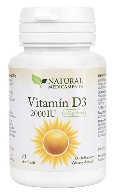 Vitamín D3 2000 IU 90 tablet
