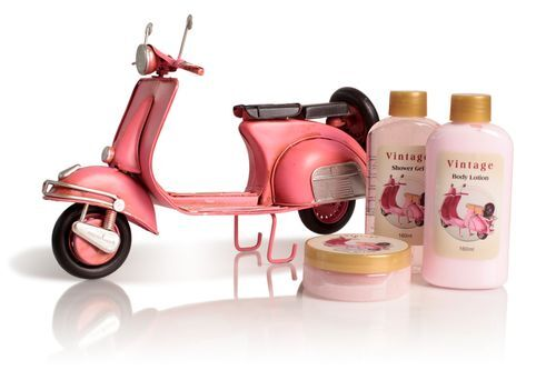 Lady Cotton Sada tělové kosmetiky do koupele Pink Vespa Rosa (Shower Set Rose)