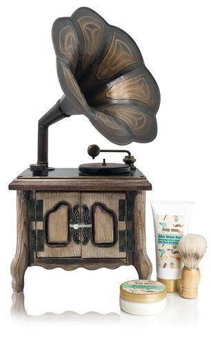 Lady Cotton Pánská sada kosmetiky na holení Gramofon (Shaving Set Gramophone)