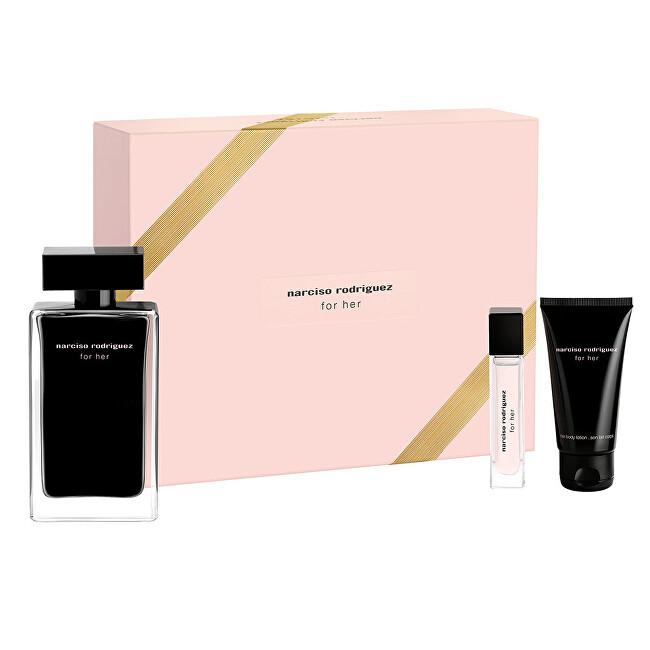 Narciso Rodriguez For Her - EDT 100 ml + tělové mléko 50 ml + EDT 10 ml