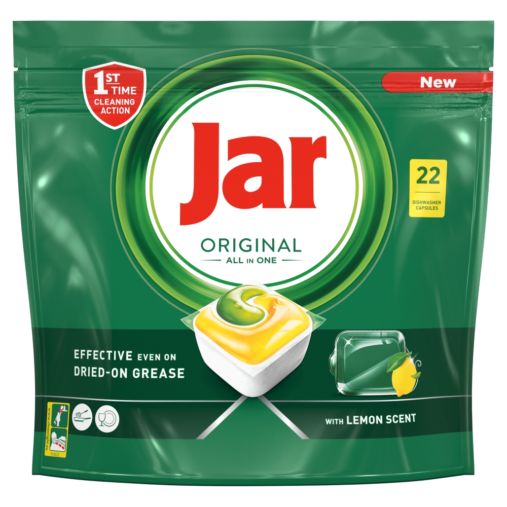 Jar Original Kapsle Do Automatické Myčky Nádobí Vše V Jednom Lemon 22 ks.